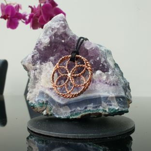 Seed of Life 1/4 & 1/8 Sacred Cubit Pendant 144 MHZ